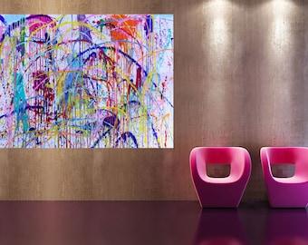 xxl abstrakt picture art 80 x 55 inch acrylic painting 200 x 140 cm