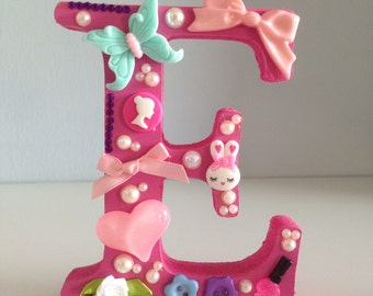 Decorated freestanding wooden letter Baby Shower, Christening, Birth or Birthday