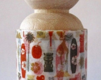 """SALE From 808-Tape """"Hawaiian Style Washi Tape"""" Exclusive """"LUAU"""" 30mm Wide Roll  2 yards"""
