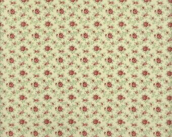 Roses on Cream - Aubrey Collection - Clothworks TY1349-57 (sold by the 1/2 yard)