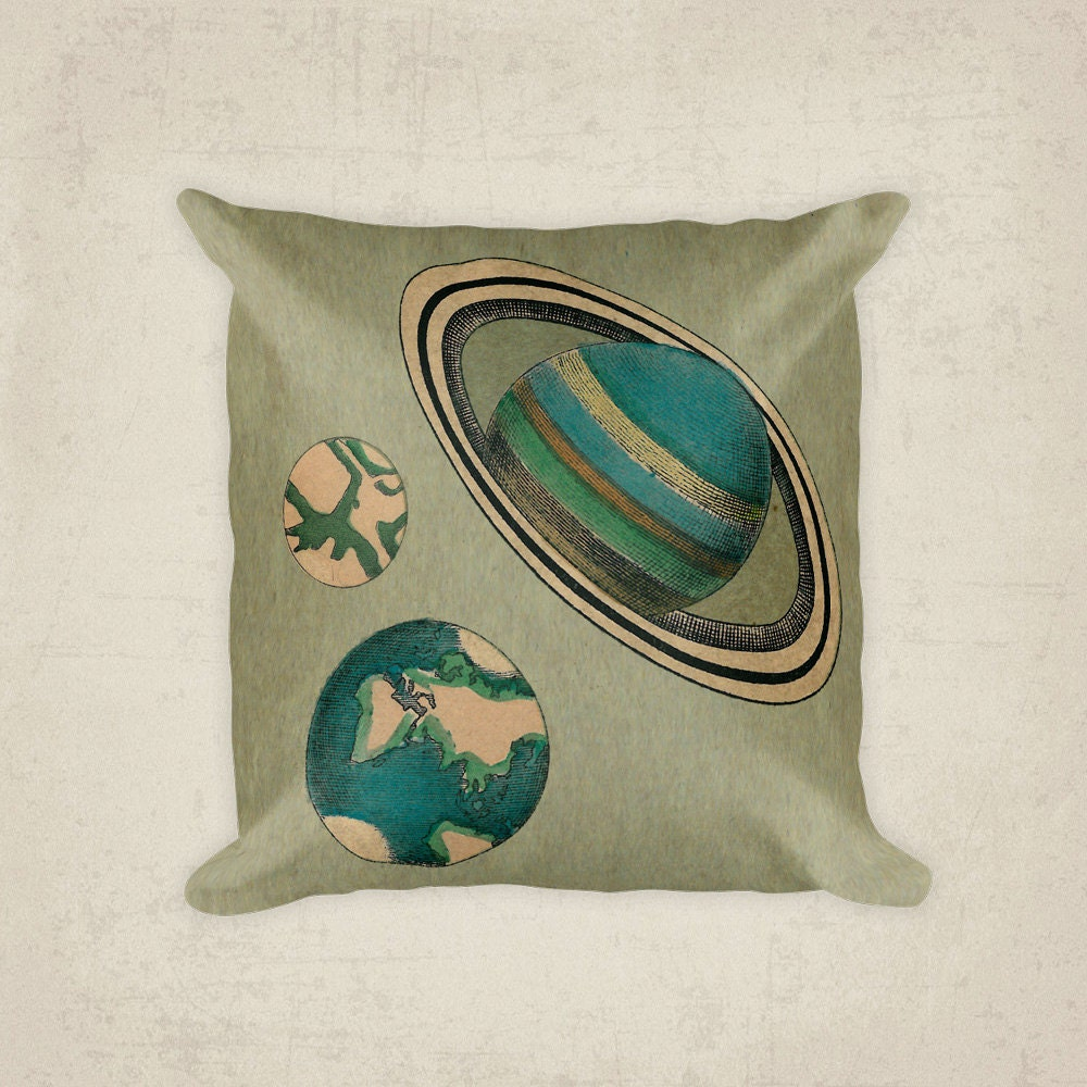 Planet pillow cover astronomy solar system pillow planets for Solar system fleece fabric