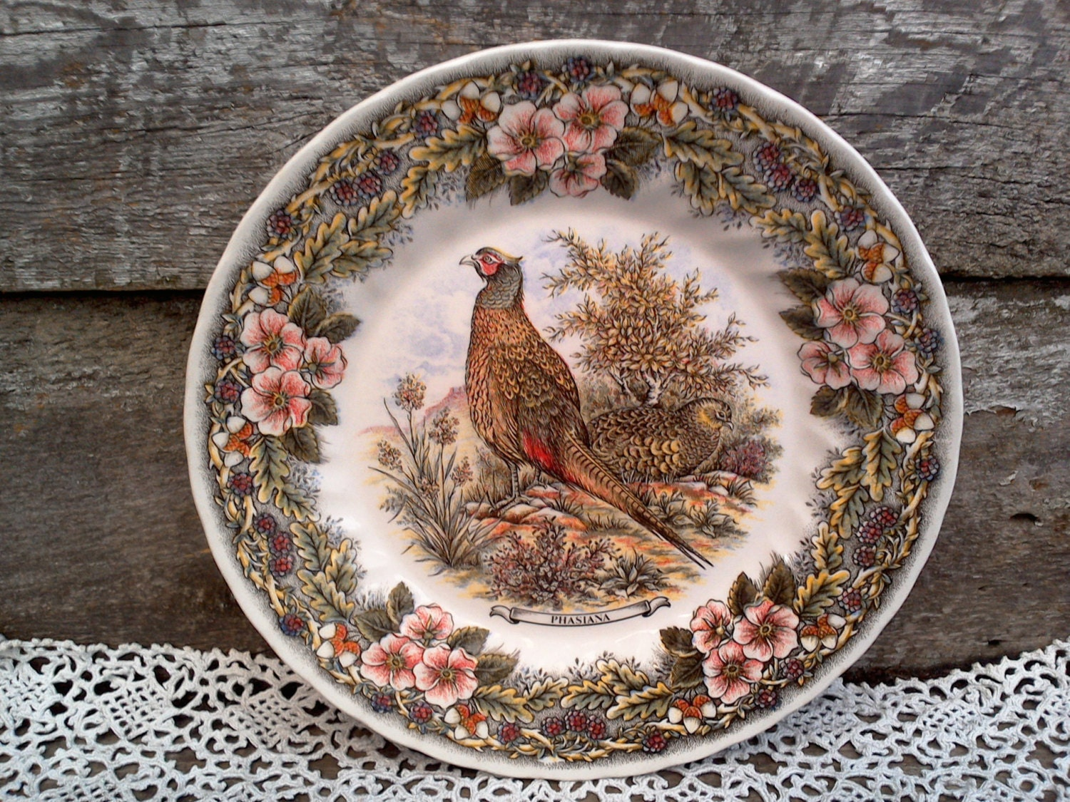 Pheasant Or Bird Plate Phasiana Churchill