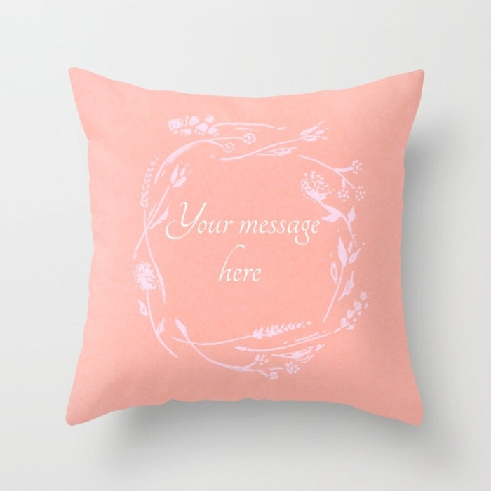 Your Words Custom Throw Pillow Cover custom words pillow