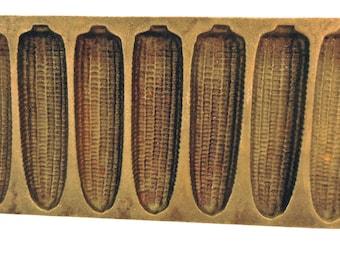 Vintage Corn Bread Corn Cob Stick Mold Pan Cast Iron Rustic Farmhouse Decor Cornbread Pan