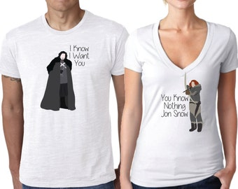 Game of Thrones Shirt, Couples Shirt, Jon Snow and Ygritte Couples Shirt