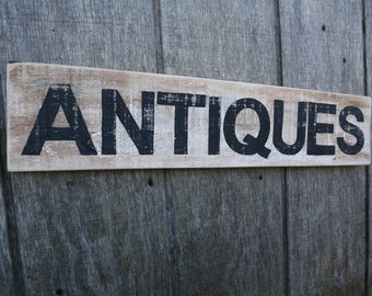 Wood Antiques Sign Rustic Pallet Wood Sign Hand Painted Sign