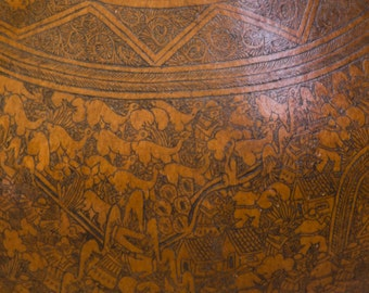 Very Old Amazingly Detailed Peruvian Gourd Art