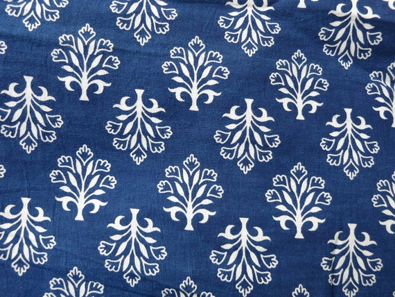 Indigo Fabric Paisley Cotton Fabric Mud Cloth Sold By Yard