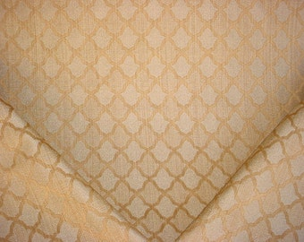 1-7/8 yards Lee Jofa / Groundworks GWF-2751 Tamora Weave in Ochre - Transitional Lattice Trellis Upholstery Fabric - Free Shipping