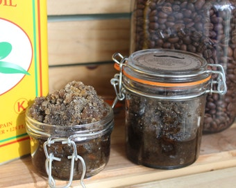 Organic Brown Sugar Coffee Scrub Basil Sage Mint 5 and 9 ozs