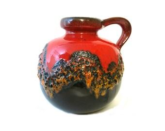 Scheurich Vase - West German Pottery - Fat Lava 1960s