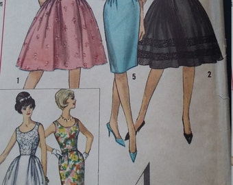 Vintage Simplicity 4491 Sewing Pattern  Size 14 Bust 34 One-Piece Dress with Two Skirts
