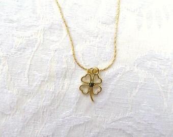 Four Leaf Clover  Necklace / 14k / 3 Styles / listing for 1 / 4 Leaf Clover 14K Necklace / women's jewelry / men's jewelry / men / women