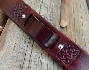 Watch Leather strap, Watch band, Men Celtic Watch strap, Watch cuff strap, Veg tanned leather