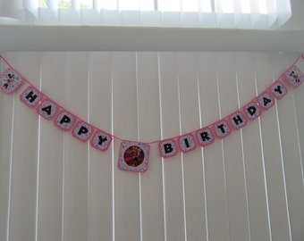 MINNIE MOUSE Flashing Happy Birthday Banner
