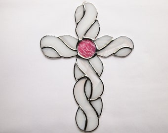 Stained Glass Celtic Knot Cross