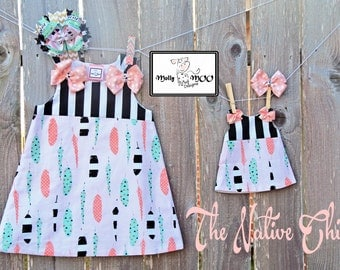 Dolly and Me Dress-The Native Chick (Dolly Dress only)
