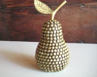 Vintage Studded Brass Pear