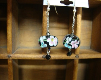 Art Glass Dangle Earrings