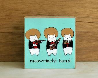 "ART BLOCK: ""Meowriachi Band"" featuring a Mariachi Band of Cats"