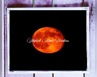 Blood Moon Photography-Full Moon Print-Nature Photography-Blood Moon Print-Super Blood Moon-Digital Background
