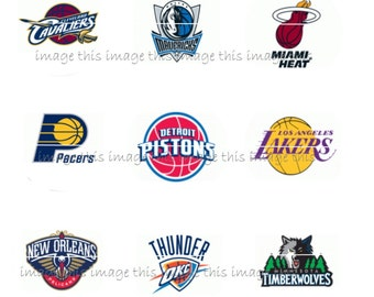 Two printable NBA Image Collage Sheets - One Inch Circles