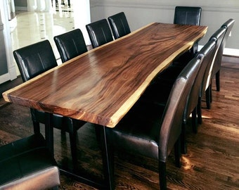 The Royalty  Live Edge Monkey Pod Or Guanacaste Dining Tables