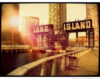 Long Island City, Queens, Long Island, Skyline, Photography, NYC, Gantry Plaza, FREE SHIPPING!