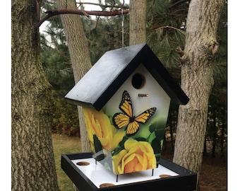 Butterfly & Roses Bird Feeder