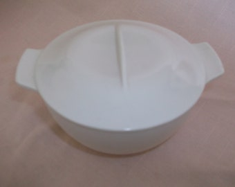 Melmac Plastic Aztec Sugar with Lid Ivory