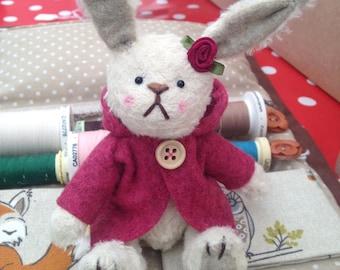 Petal - One of a Kind Miniature Artist Bear (Bunny)