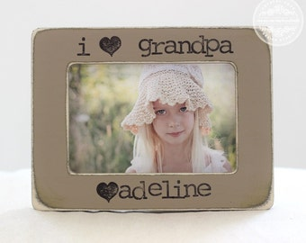 Grandpa GIFT Grandfather Papa Gift for Father's Day Personalized Picture Frame from Grandchild
