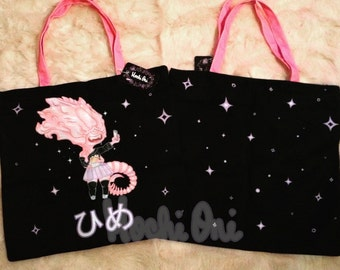 "Xenomorph ""Hime"" Princess Tote Bag with Zipper"