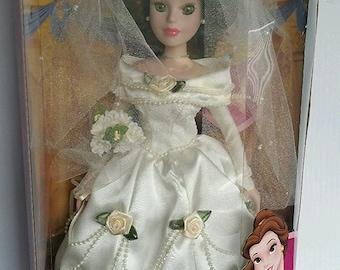 NEVER OPENED - Vintage Disney Princess Belle porcelain keepsake Doll by Brass Key