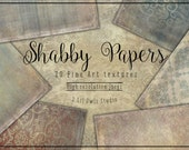Shabby Papers - Fine Art Textures, Photoshop Textures