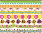 MEGA SALE 25 Digital Clip Art Borders- Candy Store -Floral Hearts Scrolls ClipArt Scrapbooking Instant Download & Printable G7051
