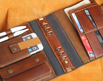 A5 Leather Journal Diary Notebook / notepad/brown vegetable tanned leather