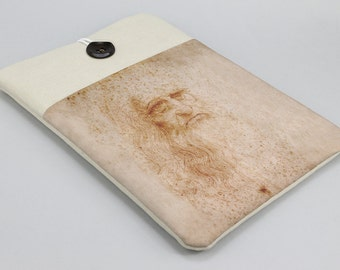 MacBook case, Leonardo Da Vinci, Macbook 12 sleeve, 11in, 13in, 15in, 17in, Macbook sleeve, Laptop case, Laptop sleeve, padded cover