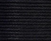 1.5mm BLACK Waxed Cotton Cord 10 Meters - Black  - DIY Organza Necklace Cord - macrame cord - Braiding Cord