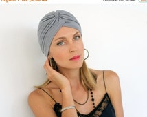 SALE Women's Fashion Turban Head Wrap in Gray