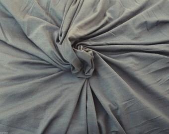 "European Modal Spandex Fabric Jersey Knit by the Yard Stone (Gray) 11/15 64""W"