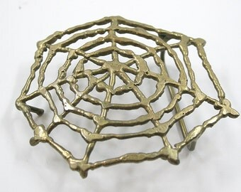 Vintage Spiderweb Belt Buckle