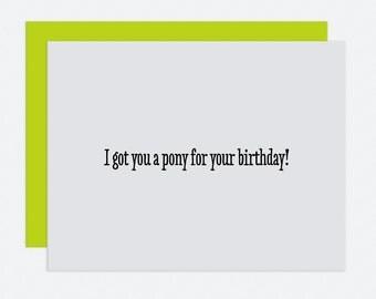 Pony - Birthday Card