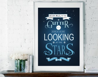 Oscar Wilde Quote, Literary Quote, Literary Prints, Literary Gifts, Graduation Gift, Inspirational Quote, Typography Poster