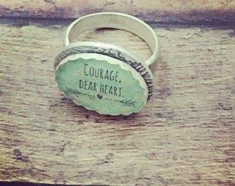 Courage, dear heart ring