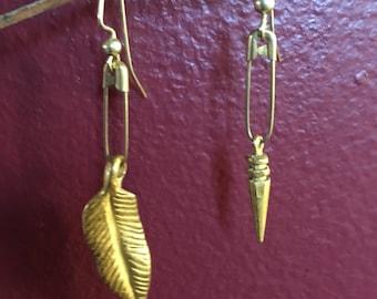 Urban gold toned earrings