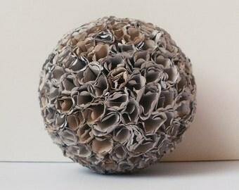 Elegant Paper Ball for Home Decor, large, 8,5 cm