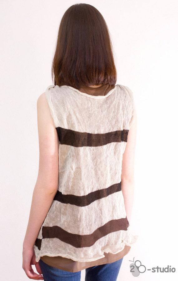 Knitting Summer Tunic : Knitting pattern summer top cotton tunic by