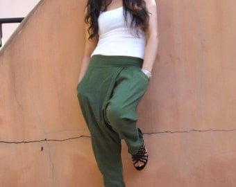 Harem Pants ...Leisure Pants ...Color Green
