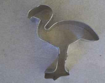 vintage flamingo cookie cutter aluminum cookie cutter kitchen ware bake ware